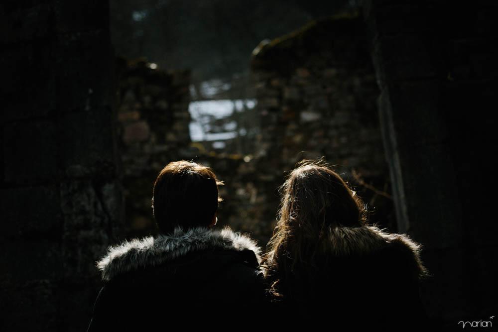fotografía de pareja en exterior