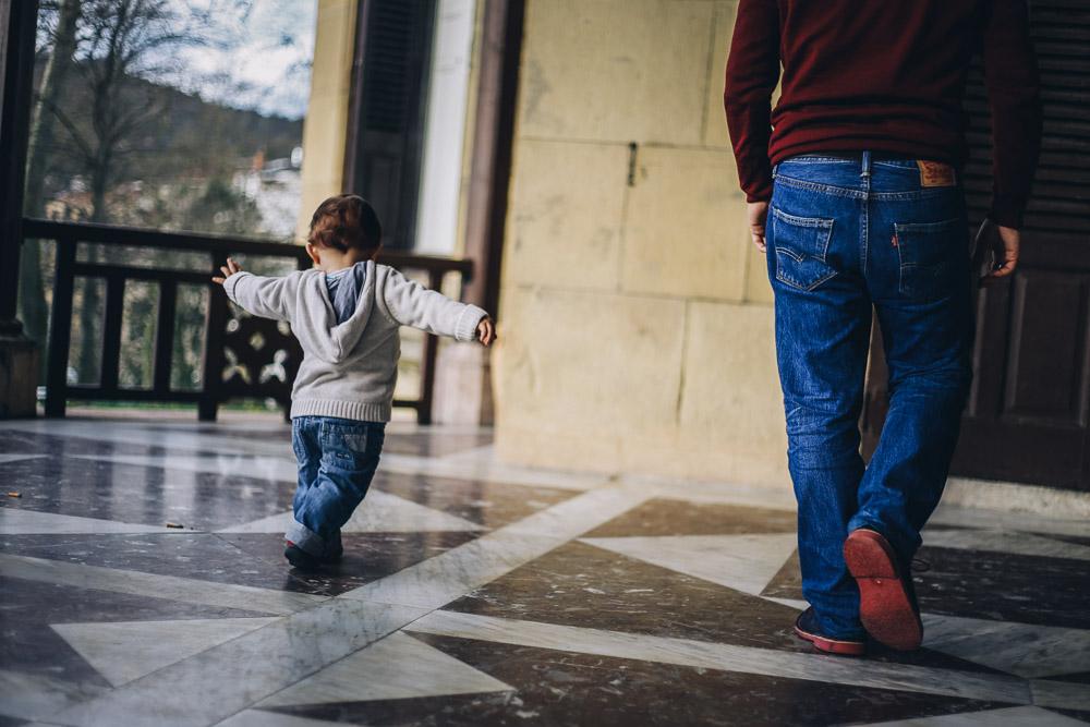Fotografía de familia en Donostia